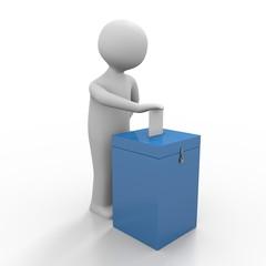 3d Männchen geht zum wählen