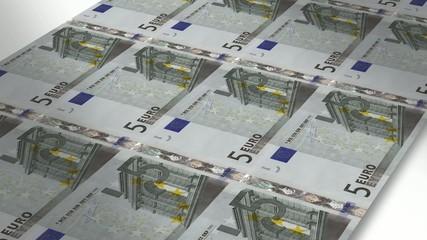 Mint - Printing 5 euro bills