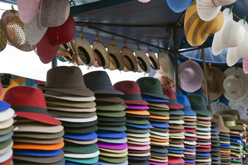 colorful indigenous market of Otavalo
