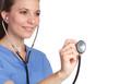 Nurse Holding Stethoscope