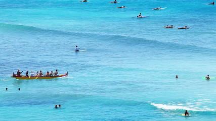 Kayaking at Hawaiian Beach Paradise