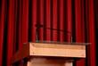 microphone on the podium