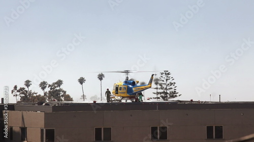 Helicopter Medical Transport at Hospital