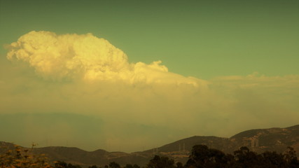 Wildfire Smoke In the Sky (Time-Lapse HD)