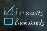 Forwards or backwards