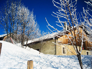 Ski resort and landscape in southern France.