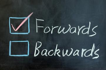 Forwards or backwards