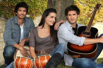 portrait of 3 musicians