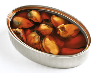 Tin of mussels