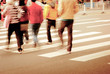 people on zebra crossing street