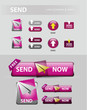 send now button, mail message icons and buttons
