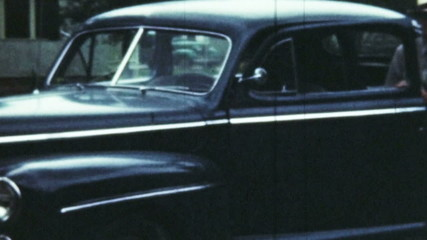 Old Car and Man (Archival Film)