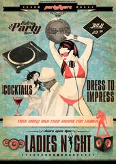 Vintage Retro Flyer Djane