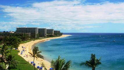 Tropical Beach Resort Paradise (HD Time-Lapse)