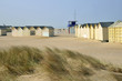 Beach cabins on the dunes at Ouistreham