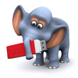 3d Elephant remembers to back up his data