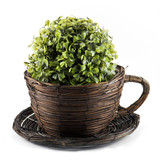 Decorative wicker planter