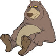 Brown Bear. Cartoon