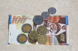 Israeli shekels - bill and coins