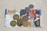 Israeli shekels - bill and coins