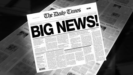 Big News! - Newspaper Headline (Intro + Loops)