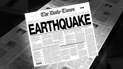 Earthquake - Newspaper Headline (Intro + Loops)