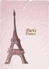 Путешествие в Париж, вектор фон