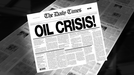 Oil Crisis - Newspaper Headline (Reveal + Loops)