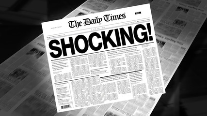 Shocking! - Newspaper Headline (Intro + Loops)