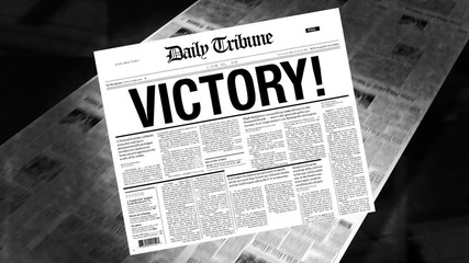 Victory! - Newspaper Headline