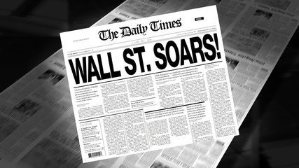 Wall Street Soars! - Newspaper Headline (Intro + Loops)