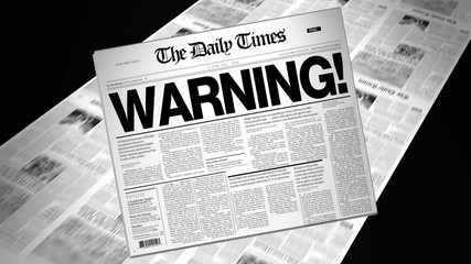 Warning! - Newspaper Headline (Intro + Loops)