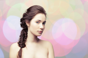Girl with a braid