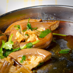 Chinese marinated food pig intestine