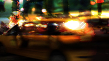 NYC Streets, Taxis, Traffic & People (Montage)
