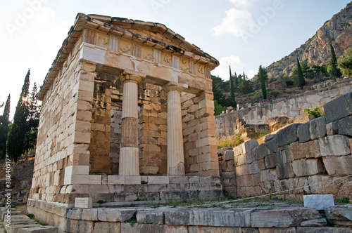 Treasury of Athens, Delphi, Greece