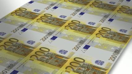 Mint - Printing 200 euro bills
