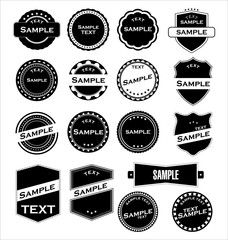Labels With Retro Design Vector illustration