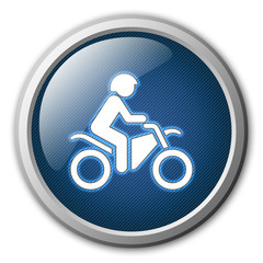 motocross glossy button