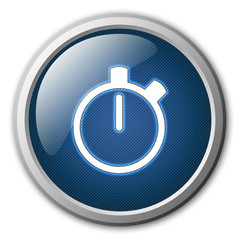 Stopwatch Glossy Button