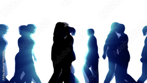 People Walking By (3D Vector Silhouette Animation)