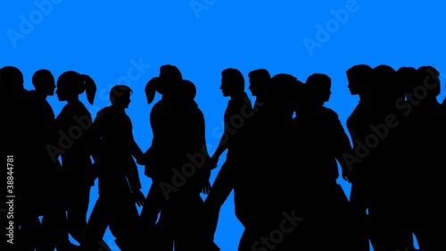 People Walking By (3D Vector Silhouette)