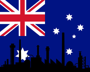 Industrie und Fahne von Australien