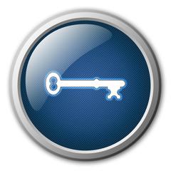 Key Glossy Button