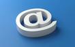 white e-mail symbol