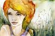 złotowłosa piekna dziewczyna