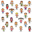 Vector of colorful children background