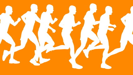 Running Men Vector Animation