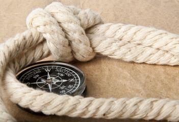 Marine rope and compass