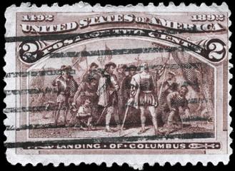 USA - CIRCA 1893 Landing of Columbus